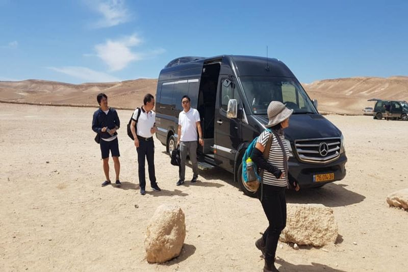 Bus from Petra to Eilat (Israel)