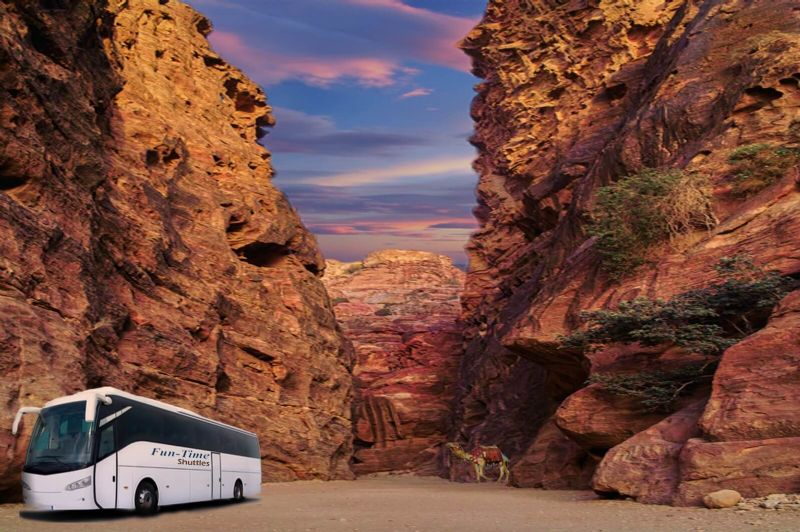 From Tel Aviv: One Way Daily Bus to Petra Only $49.00